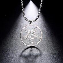 Dawapara Baphomet Pendant Satanic Amulet Symbol of Evil Stand-in for Satan Vinta