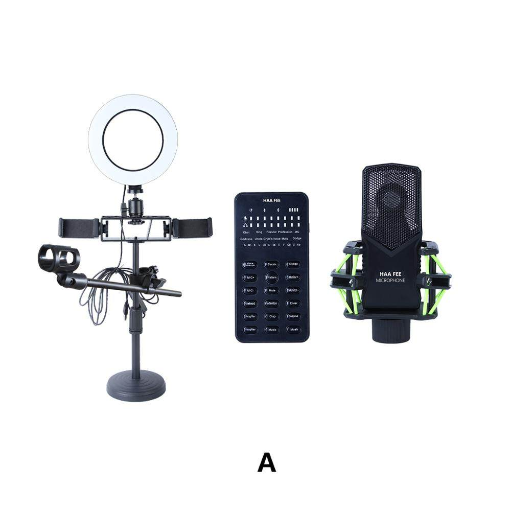 Multifunctional Live Streaming Equipment Condenser Microphone Sound Recording Live Webcast Device For Youtube Mega Discount F3857 Cicig