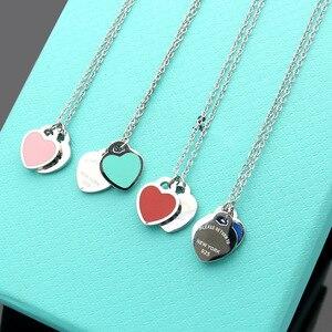 Есть марки из стерлингового серебра 925 пробы, дизайнерское ожерелье с сердцем для женщин, дизайнерские женские вечерние свадебные помолвки,...