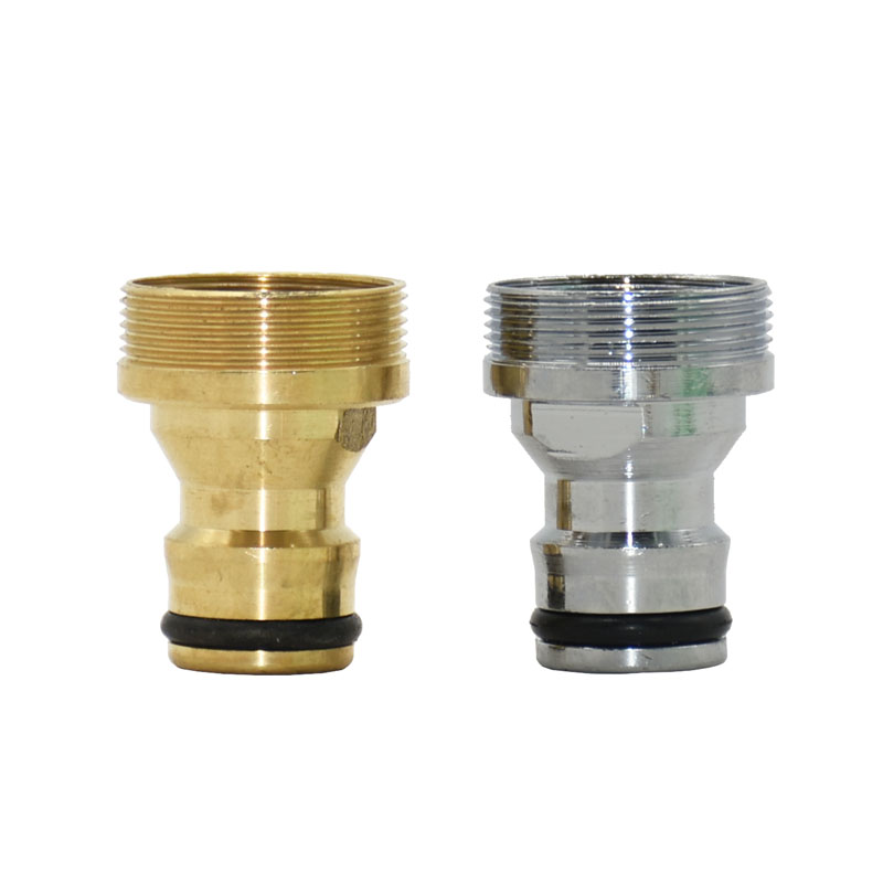 Silver Female 22 To M24 Male Quick Connector Brass Nipple Faucet Adapter Garden Tap Adapter 1pcs
