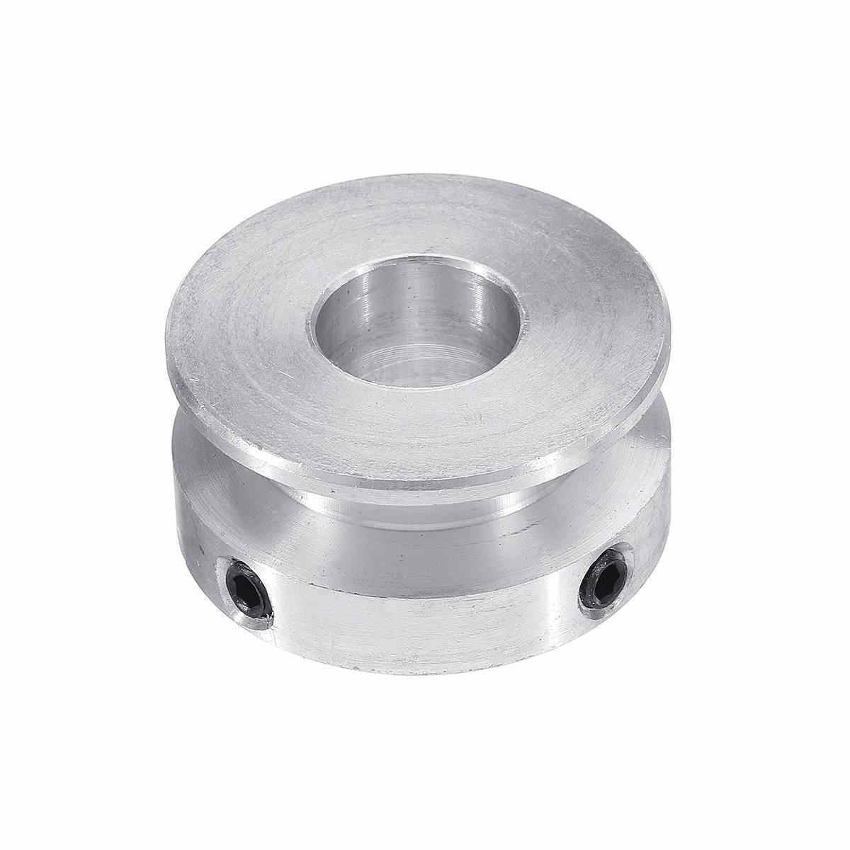 "1PC כסף אלומיניום סגסוגת 30MM אחת חריץ גלגלת 4-16MM נשא קבוע גלגלת גלגל עבור מנוע פיר 6 מ""מ עגול חגורה"