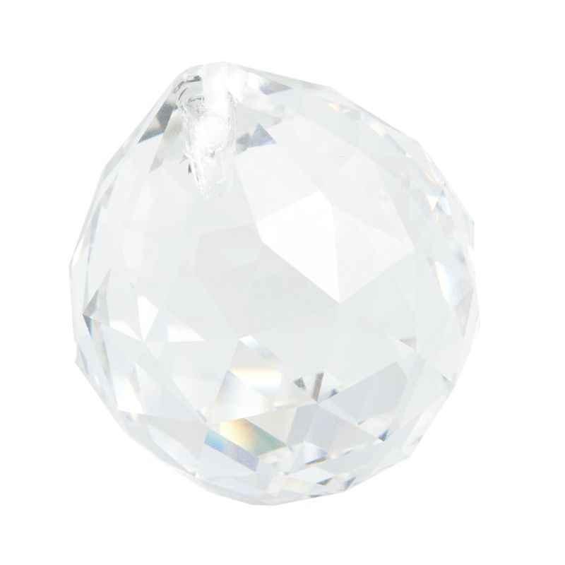 Jelas Lampu Gantung Bola Prism SunCatcher Pernikahan Dekorasi 20 Mm G8TB
