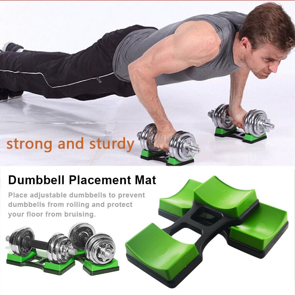 1Pair Fitness Dumbbells Bracket Dumbbell Placement Frame Stand Floor Protection Fitness Training Device For Household