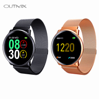 OUTMIX Uwatch2 Smart Watch For Andriod IOS 1.33' Full Touch Screen IP67 25 days Standby 7 Sport Modes Full Metal Unibody