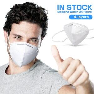 100 pçs kn95 máscaras de poeira branco kn95mask filtro respirável rosto boca máscaras segurança respirador reutilizável saúde mascarillas rímel