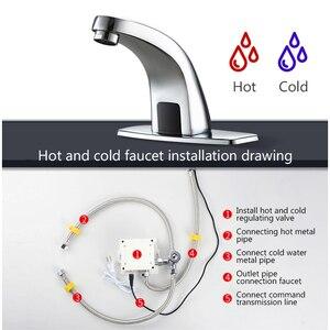 Image 3 - Hot En Koude Automatische Handen Touch Gratis Sensor Kraan Badkamer Wastafel Tap Badkamer Kraan Water Mixer Kraan FYG334