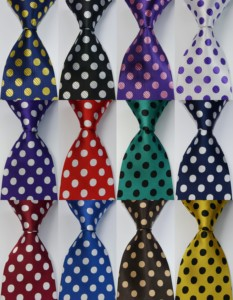 Corbata de lunares 100% de seda 9cm en azul, dorado, rojo, Morado, para fiesta de boda, corbata de diseño de moda tejida