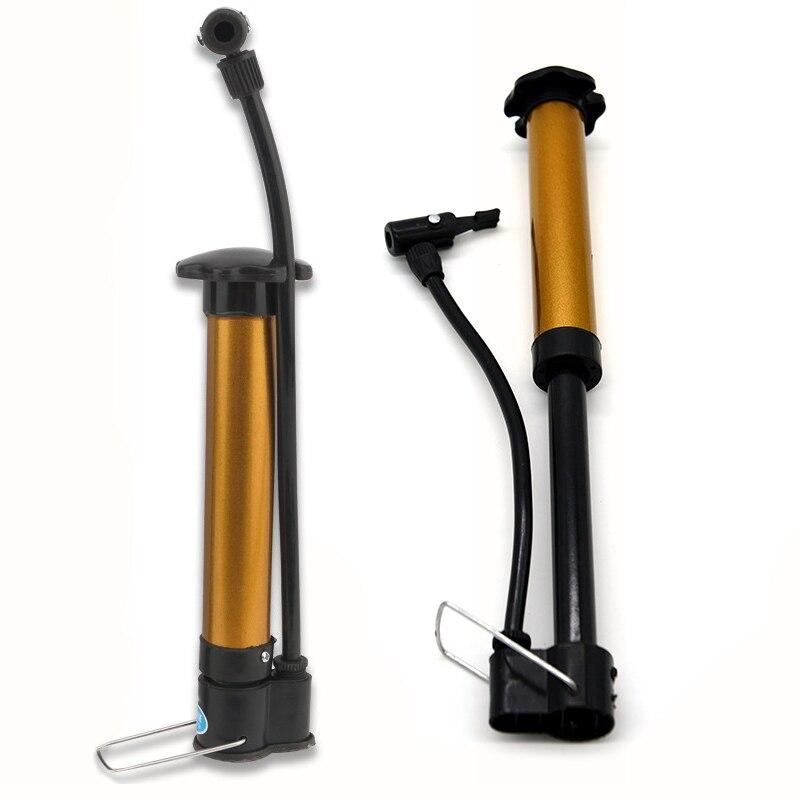 Mini Bike Pump Portable Bicycle Tyre Inflator Hand Pump FLEXI ADAPTOR NEEDLE
