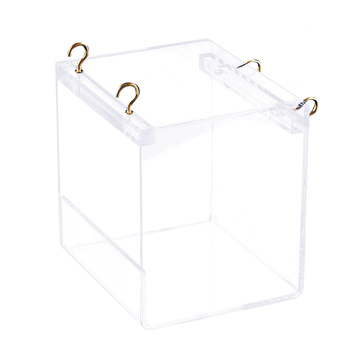 Portable House Cage Parakeets Pet Supplies Cockatiel Cleaning Parrots Shower With Hanging Hooks Bird Bathtub Transparent Acrylic 5