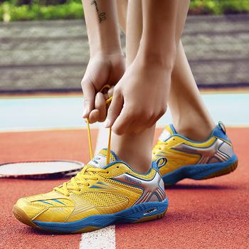 2020 profesjonalne amortyzujące buty do siatkówki mężczyźni kobiety sportowe oddychające sneakersy wytrzymałe buty do tenisa stołowego tanie i dobre opinie BUFEIPAI CN (pochodzenie) WOMEN Na twardy kort Dla osób dorosłych Zaawansowane oddychająca Masaż Siatkówka shoes Średnia (B M)