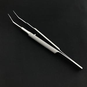 Image 5 - 18 センチメートルステンレス鋼ラウンドハンドルまぶたピンセットプラットフォーム二重まぶたツール微ティッシュ鉗子眼科楽器