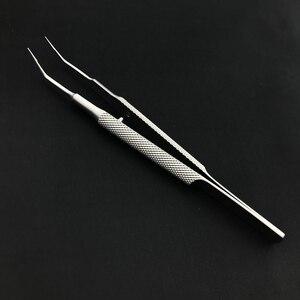 Image 5 - 18cm de aço inoxidável alça redonda pinças pálpebra plataforma dupla pálpebra ferramenta pinça tecido fino instrumentos oftálmicos