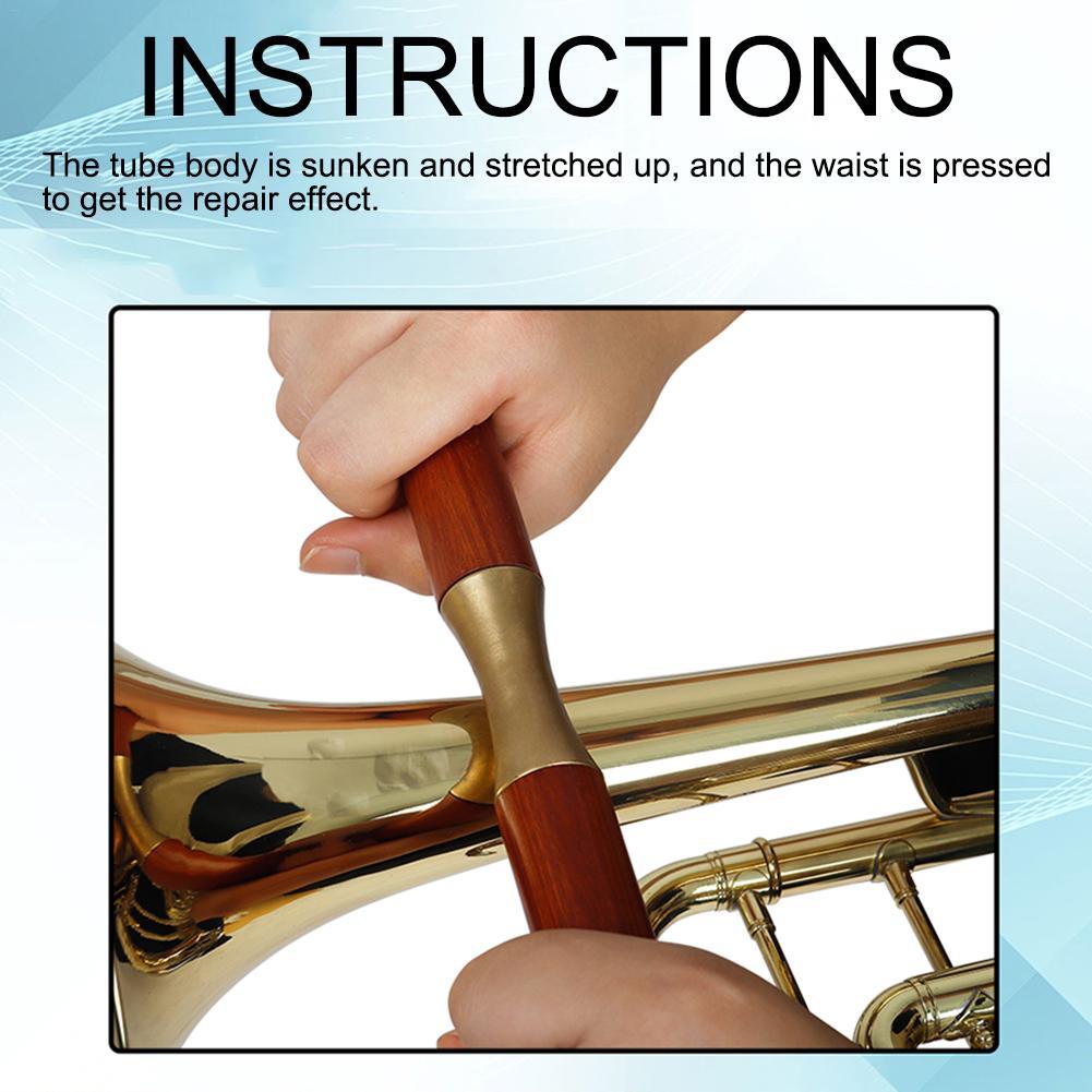 Musical Instrument Wooden Repair Tools For Saxophone Saxophone Trumpet Trombone Repair Two-hand Wooden Handle