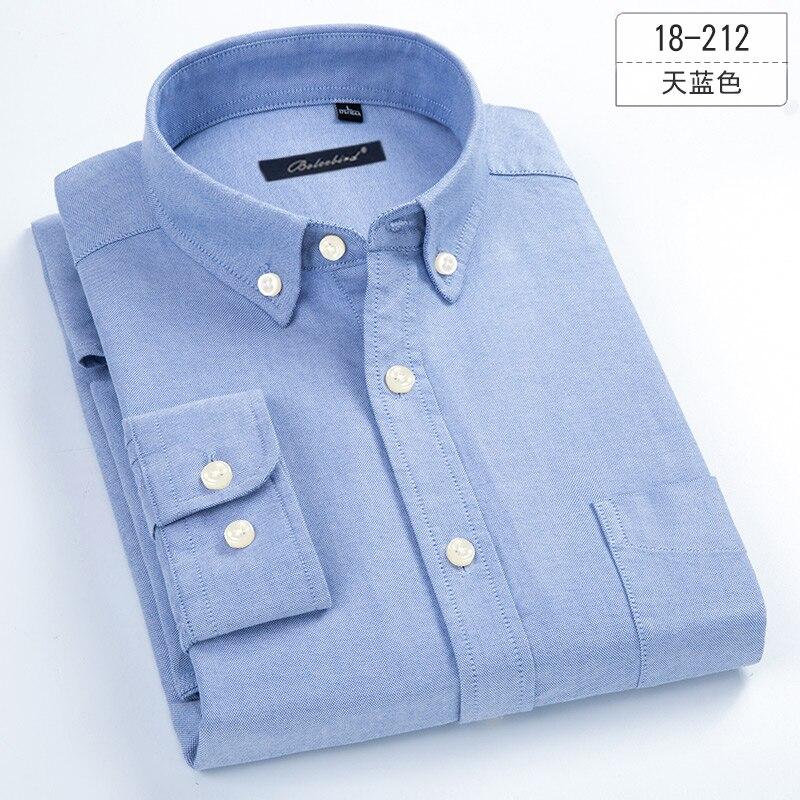 8XL 7XL綿100% の純粋な色/ストライプのシャツ男性オックスフォードビジネスカジュアル男性のシャツ長袖特大ボタンアップシャツ