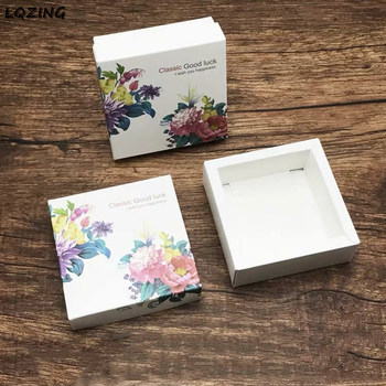 20x Mini paper box handmade cookie packaging wedding boxes gift paper box essential oil/soap/cosmetics cans cardboard with cover