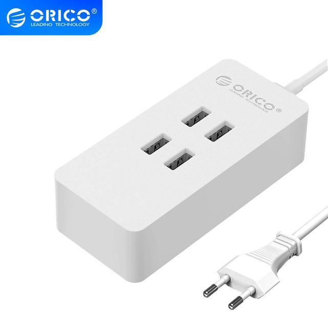 ORICO 4 Port 20W Max USB Charger Mini Desktop Charging Dock Station 5V2.4A Desktop Charger for Mobile Phone Tablet