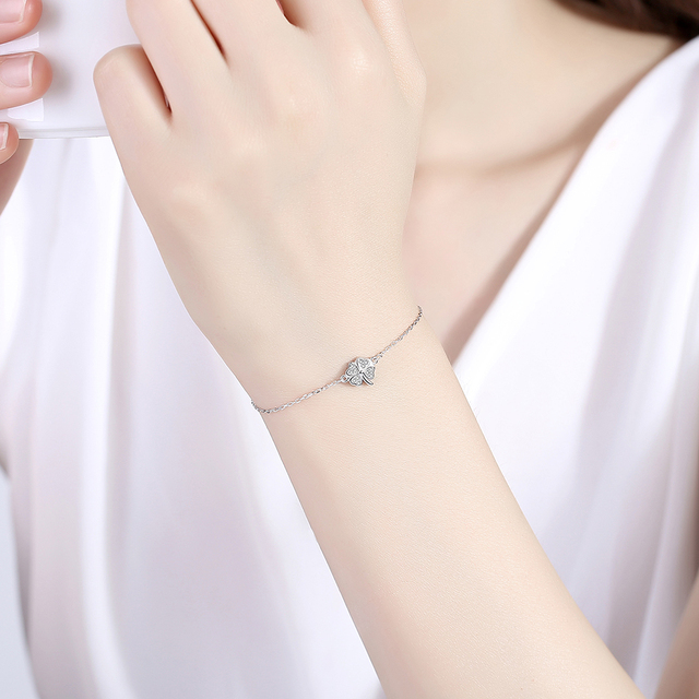 Bracelet Porte-Bonheur Trèfle 4 Feuilles