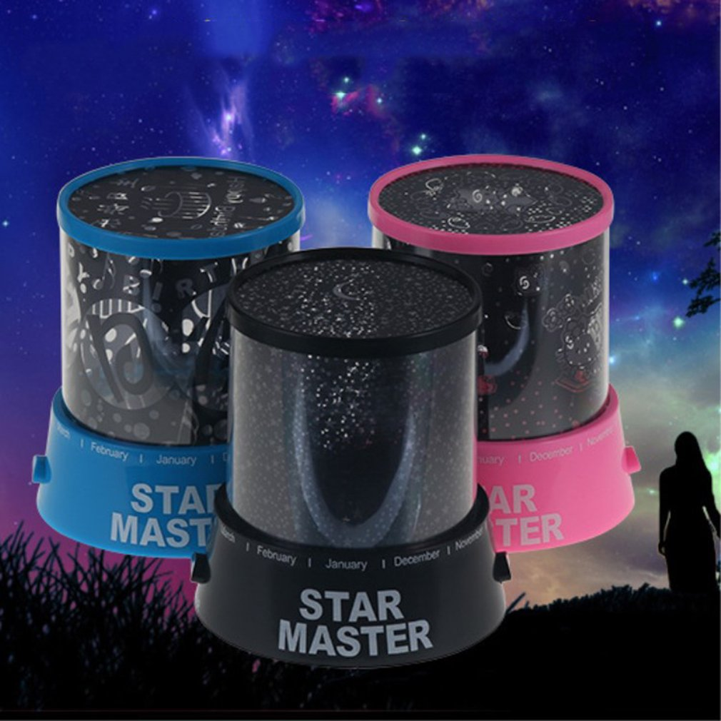 LED Night Light Projector Starry Sky Star Moon Master Children Kids Baby Sleep Romantic Colorful Led USB Projectionlamp Hot Sale