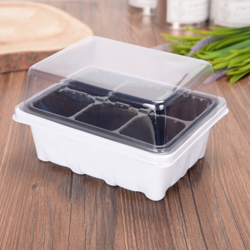 Grow Box 6Holes Plastic Plant Pot Seedsplants Seedling Tray Garden Pots Nursery Box Indoor Hydroponics System To Grow Garden