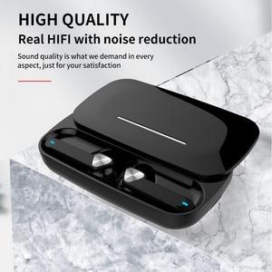 Image 4 - BE36 ステレオチャンネルをキャンセル人間工学と耳に充電ボックスデュアルマイクワイヤレスイヤホンbluetooth 5.0