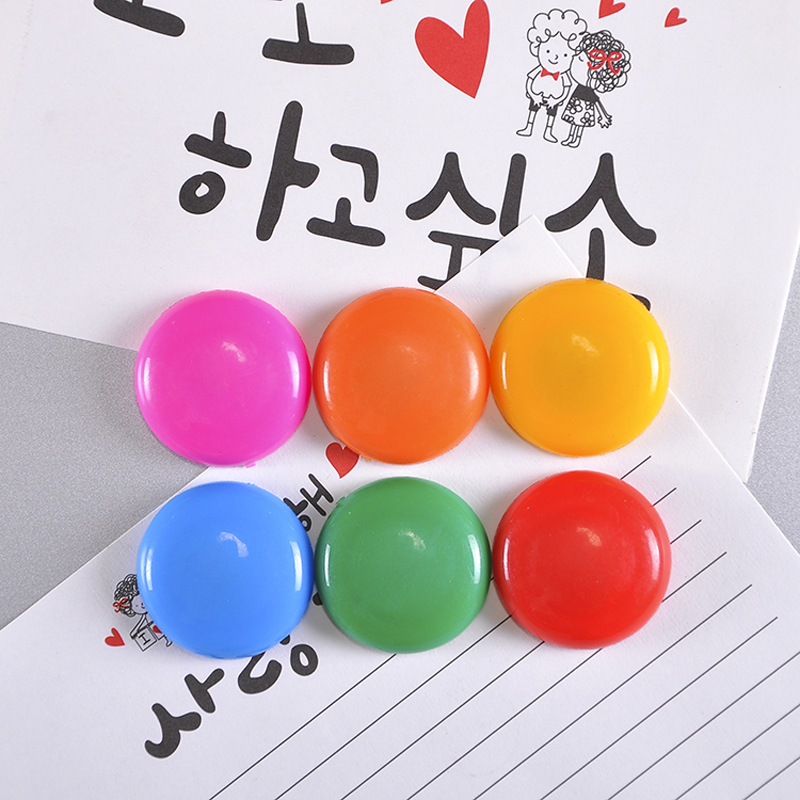 6 Pcs Tacks Magnetic Plastic Color Magnetic Beads Refrigerator Stickers Whiteboard Blackboard Magnetic Particle Buckle