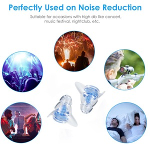 Image 5 - 1Pair Noise Cancelling Earplugs For Sleeping Study Concert Hear Safe Noise Reduction Earplug Hear Protection Silicone Ear Plugs