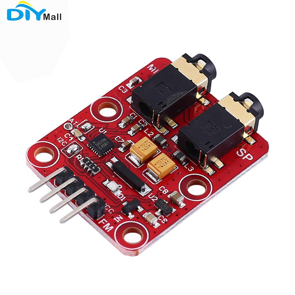 RDA5820N FM Transceiver Module Frequency Modulation 76-108.0MHz IIC Interface Broadcast Transmit/Receive