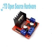 1 pces l298n motorista de motor controlador placa módulo duplo h ponte dc l298n stepper driver motor para arduino