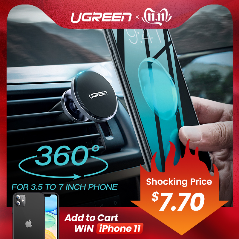 Ugreen Car Magnetic Phone Holder Cell Phone Mount Holder Stand In Car Smartphone Support Magnet for iPhone X Mobile Stand Holder-in Phone Holders & Stands from Cellphones & Telecommunications