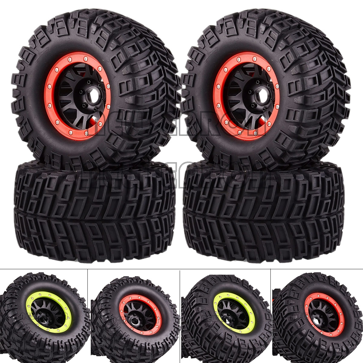 NEW ENRON 4PCS WHEEL & 170MM TIRES 17MM HEX FOR RC 1/8 Monster Truck HPI Savage FLUX HSP Traxxas HPI LOSI HSP NANDA