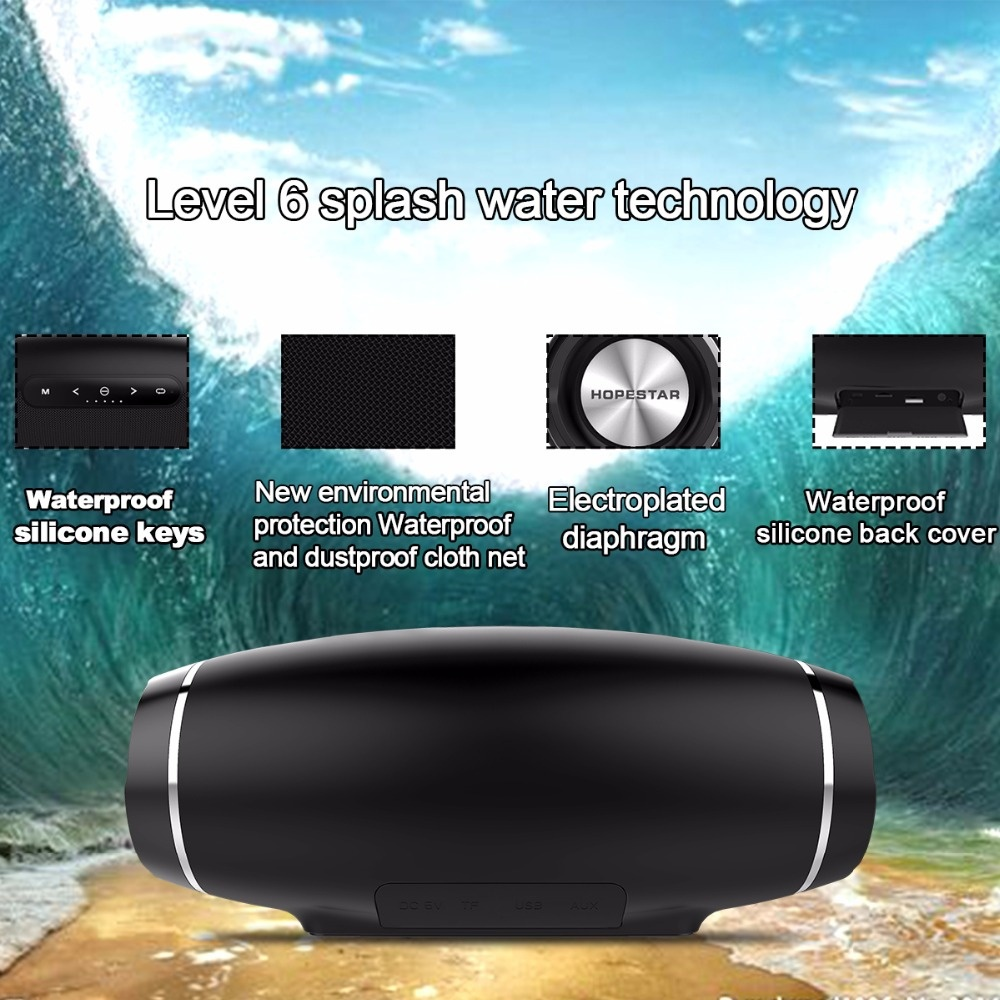 Portable Bluetooth <font><b>Speaker</b></font> Outdoor Waterproof Wireless Sound Box <font><b>Speakers</b></font> MP3 Audio With Microphone For SmartPhone huawei sony image
