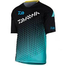 2019 Summer Daiwa Dawa Fishing Shirt Men Clothing Outdoor Sports Breathable Camouflage Hiking Camping