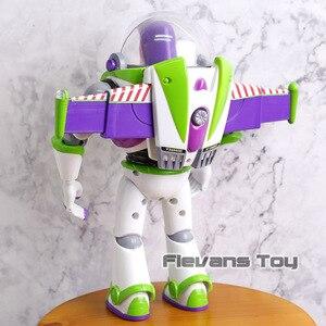 Image 4 - Buzz Lightyear parlante Woody Jessie Rex Bullseye, lámparas de juguete, voces que hablan inglés, figuras de acción móviles articuladas, regalo para niños