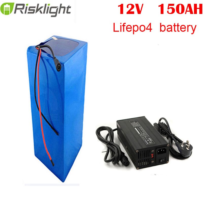rechargeable power <font><b>lifepo4</b></font> <font><b>12V</b></font> <font><b>150ah</b></font> lithium ion battery for RV/solar system/yacht/golf carts storage and car image