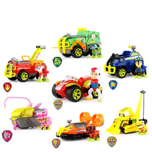 Paw Patrol Toys Set Toy Car Dog Jungle patrol Car Action Figures Ryder Track Sound Anime Figures Model Toys for Children Gift new led flashlight keychina with sound action toy figures raving rabbids keychain toys gift for child kids toys
