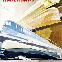 Alemán ferrocarriles seguridad velocidad confort anuncio de viajes de belleza ver alemán póster Vintage Retro arte de la pared de la lona pósteres casa Decoración