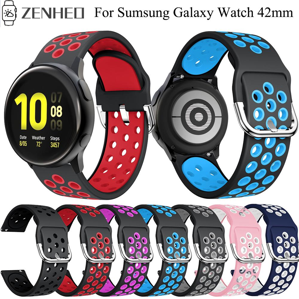 20mm Silicone Bracelet Strap For Samsung Galaxy Watch Active 2 Sport Watch Band For Samsung Galaxy Watch 42mm Watchband