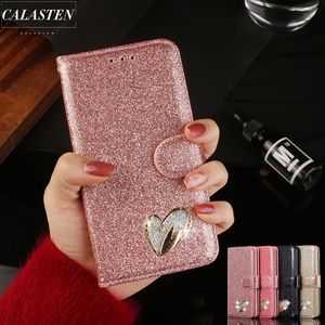 Luxury Diamond Cases For Huawei P30 Lite P20 Pro Mate 20 Lite Pro Leather Wallet Flip Card Stand Bling Glitter Phone Cover Coque
