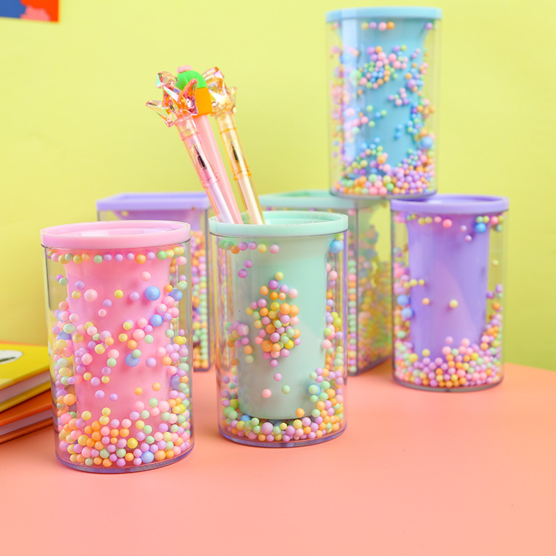 TUTU Pen Holder Office Organizer Cosmetic Square Pencil Pen Stand Holders Stationery Container Office School Supplies H0384