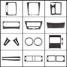 Trim-Sticker Center-Console Air-Vent-Panel Carbon-Fiber Interior Mercedes-Benz Fit-For