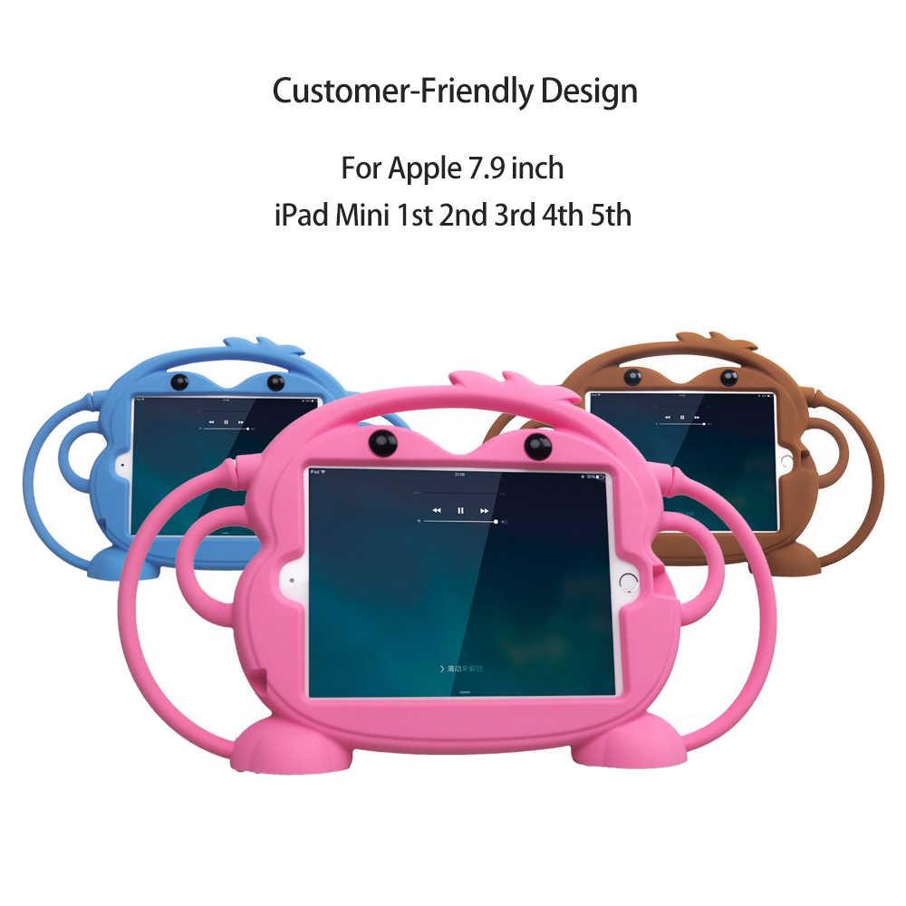 Capa de tablet para crianças, capa de segurança para ipad mini 1 2 3 4 5, silicone resistente ao choque, suporte lavável capa para ipad 2 3 4