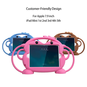 Image 3 - Kid safety Tablet Case for iPad mini 1 2 3 4 5 Kid friendly Carry Shockproof 7.9in Washable Stand Silicone Case for iPad 2 3 4