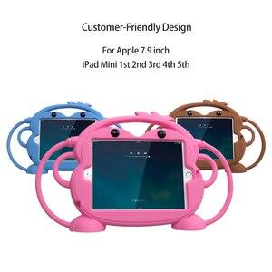 Image 3 - ילד בטיחות Tablet Case עבור iPad mini 1 2 3 4 5 ילד ידידותי לשאת עמיד הלם 7.9in רחיץ Stand סיליקון מקרה עבור iPad 2 3 4
