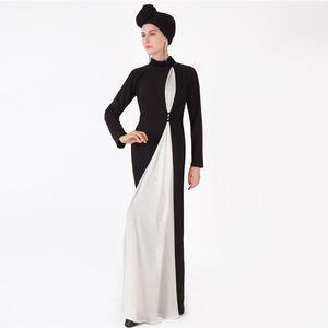 Muslim fashion abaya color matching women's long robe Arab long sleeve dresses muslim open abaya cardigan kimono abayas MSL839