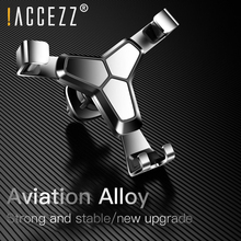 !ACCEZZ Universal Gravity Car Phone Holder 360 Rotation Air Vent Mount For in No Magnetic Mobile Stand Auto GPS
