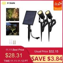Lampe solaire dextérieur, imperméable conforme à la norme IP65 T SUNRISE, Spot lumineux, lampe de paysage, idéal pour une pelouse, idéal pour un jardin, modèle LED de jardin