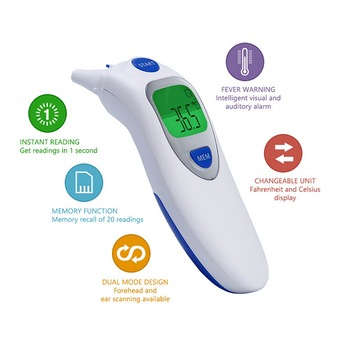 Digital Thermometer Infrared Baby Ear LCD Electric Adult Body Fever IR Children Forehead Thermometer Non-Contact