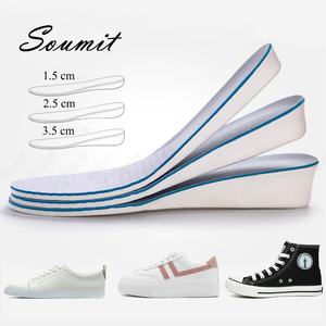 Memory Foam Height Increase Insoles for Women Men Sneakers Invisible Comfortable Inserts Heighten Cushion Taller Sole Shoes Pads