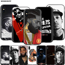 Webbedepp Nipsey Hussle. La vuelta de la victoria para Apple iPhone 11 Pro XS Max XR 8X8 7 6 6S plus 5 5S SE(China)