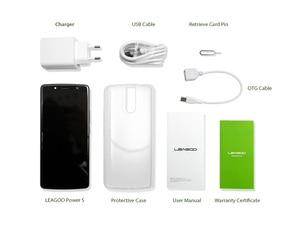 "Image 5 - Leagoo Power 5 Smartphone 5.99 ""Fhd + 18:9 Ram 6 Gb Rom 64 Gb Android 8.1 MT6763 Octa Core 7000 Mah Dual Achter Cams 4G Mobiele Telefoon"